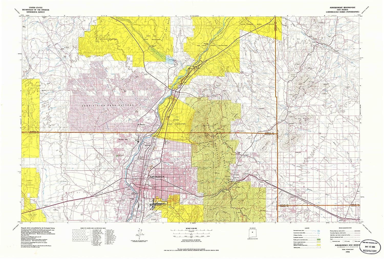 Amazon.com : YellowMaps Albuquerque NM topo map, 1:100000 ...