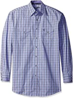Wrangler Men's Big and Tall George Strait Patriot Two Pocket Long Sleeve Woven Western Shirt