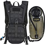 Tactical Molle Hydration Pack Backpack with 2.5L TPU Water Bladder, Military Daypack for Cycling, Hiking, Running, Climbing, Hunting, Biking