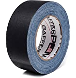 REAL Professional Premium Grade Gaffer Tape by Gaffer Power - Made in the USA - Black (Available in White, Red, Green, Blue) 2 Inch X 30 Yards - Heavy Duty Gaffer's Tape - Non-Reflective - Waterproof - Multipurpose - Better than Duct Tape!