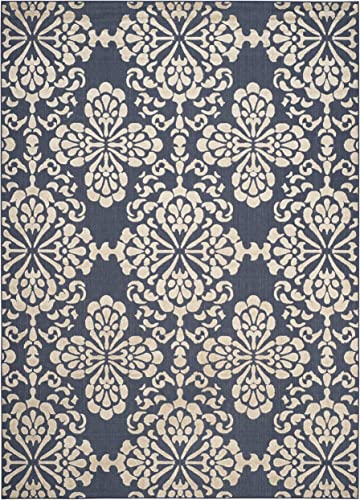 Safavieh Cottage Collection COT908A Indoor/ Outdoor Non-Shedding Stain Resistant Patio Backyard Area Rug