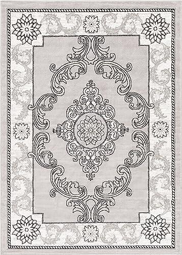 Well Woven Alana Dulcet Modern Area Rug 9'3″ x 12'6″ Grey