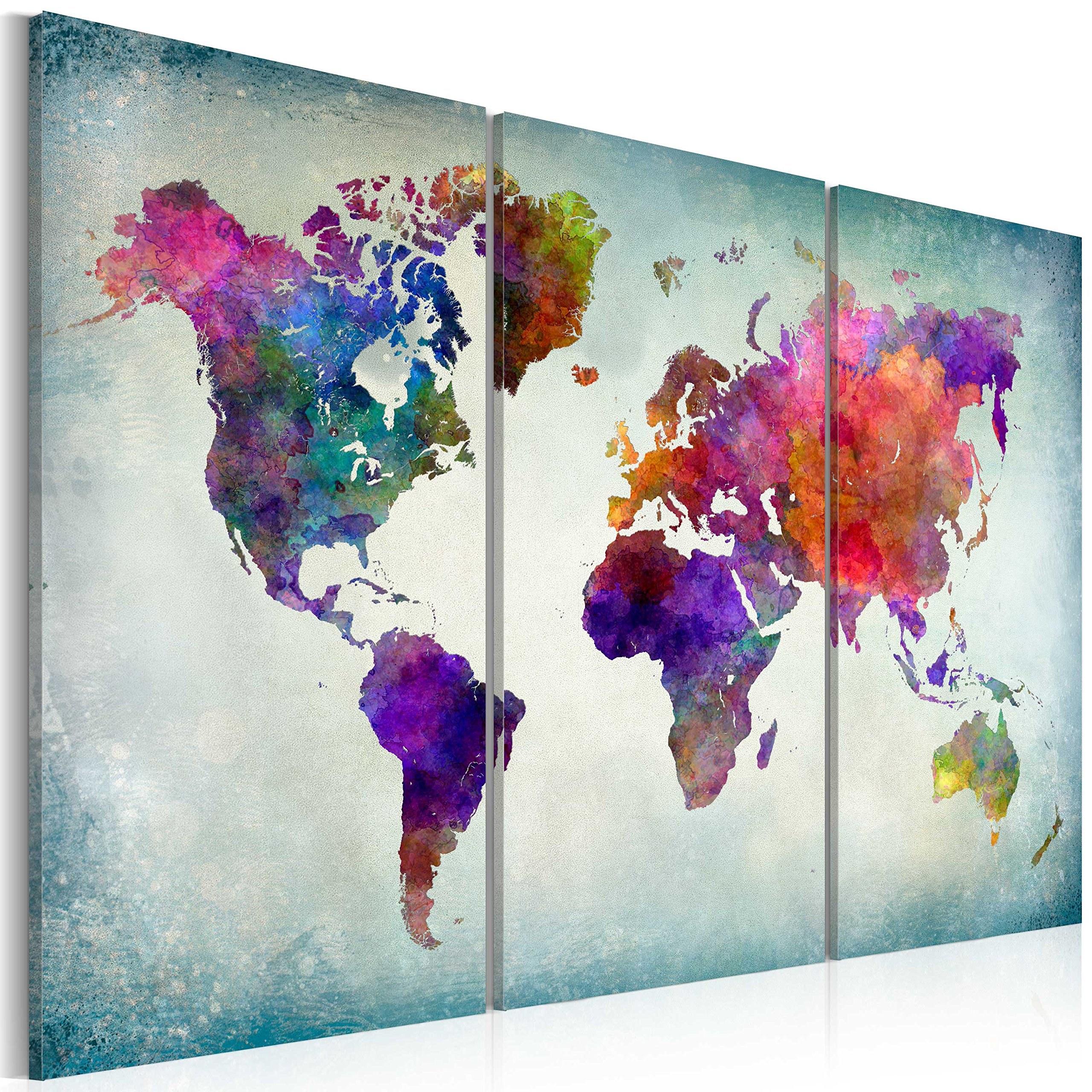World map wall art amazon murando image 120x80 cm image printed on non woven canvas wall art print gumiabroncs Gallery