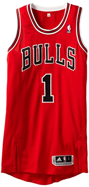 sports shoes 386c5 70cfc NBA Chicago Bulls Red Authentic Jersey Derrick Rose #1