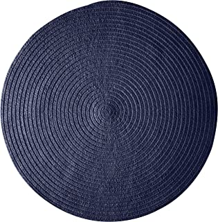 product image for Spring Meadow Round Rug, 10', Navy