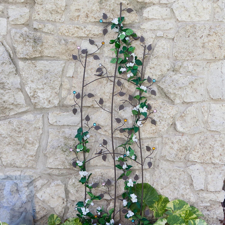 Amazon.com : Metal Jeweled Trellis Wall Vine Garden Decor Plant ...