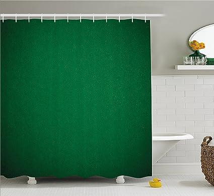 Lunarable Hunter Green Shower Curtain Digitally Created Plain Surface Vegas Color Holdem Artful Picture Print