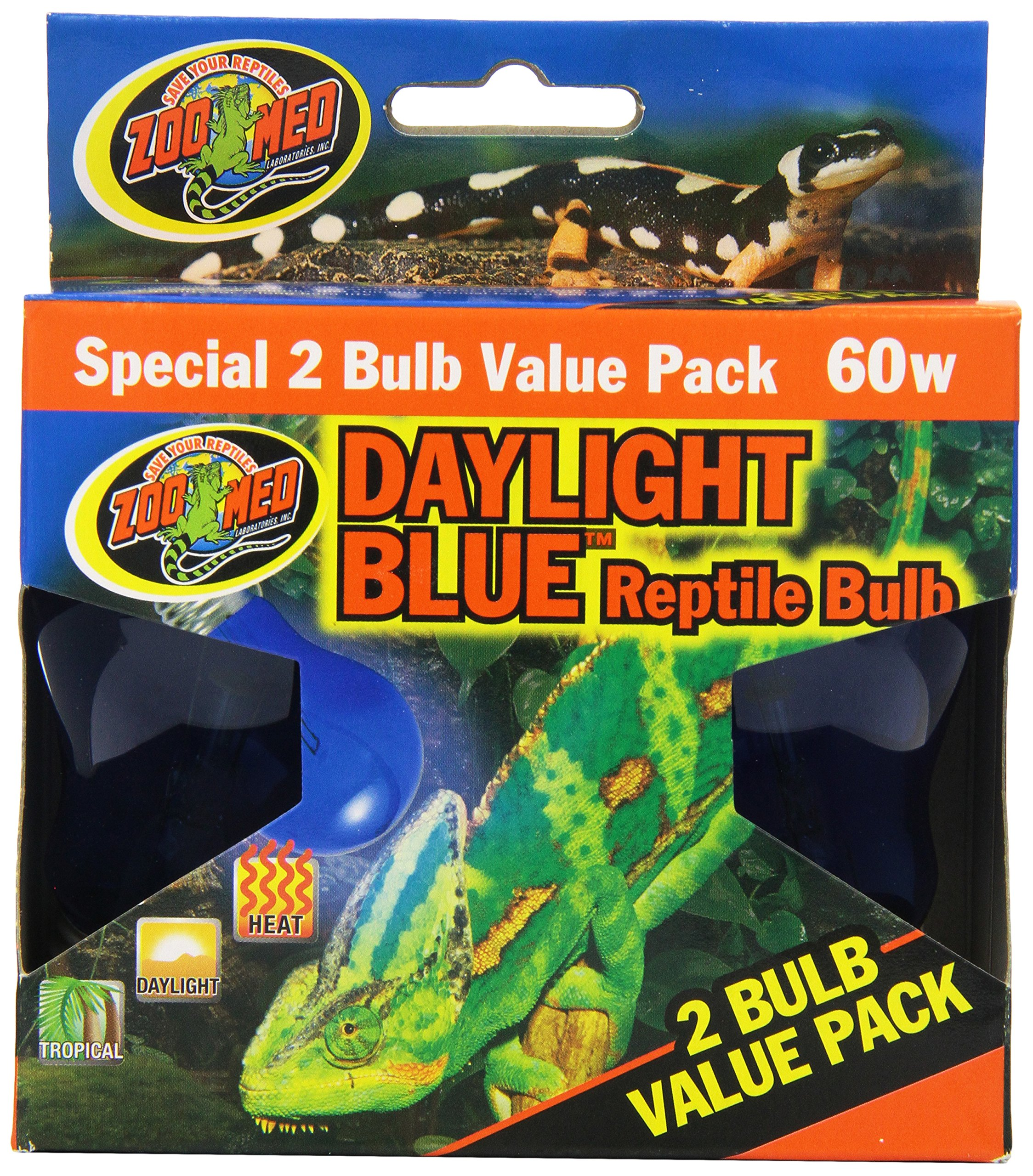 Zoo Med 2-Pack Daylight Blue Reptile Bulb, 60-watt by Zoo Med (Image #1)