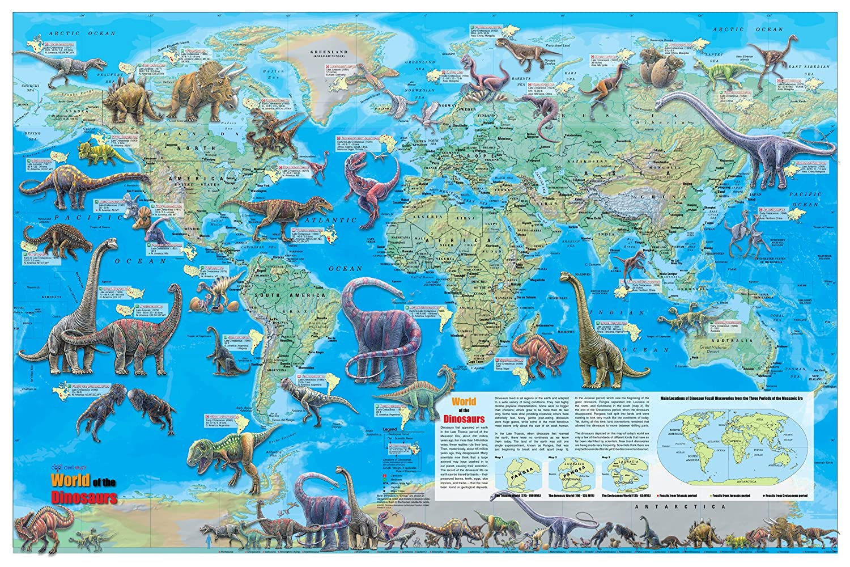 Dinosaur World Map on