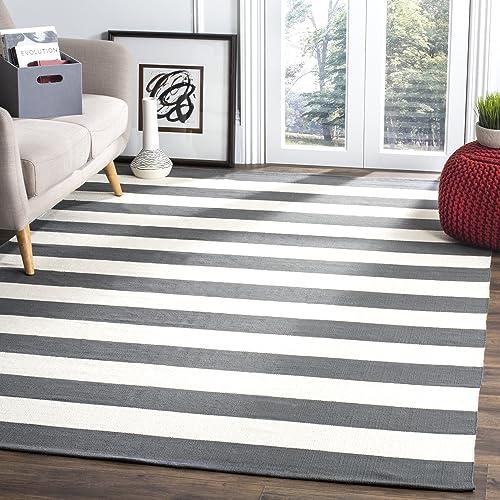Safavieh Montauk Collection MTK712G Handmade Stripe Cotton Area Rug