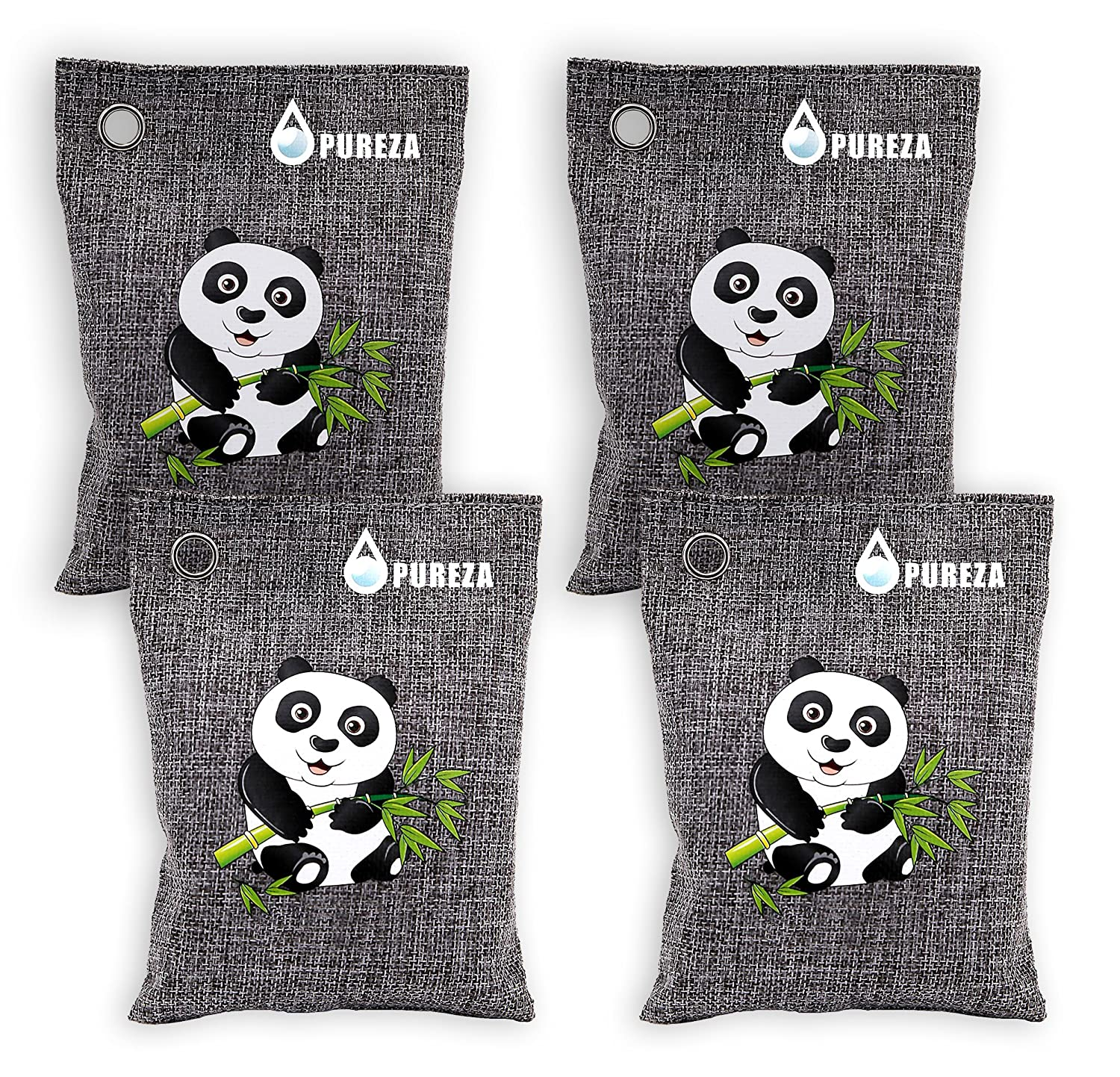 Nature Fresh Air Purifying Bag. Odor Eliminator for Cars, Closets, Bathrooms and Pet Areas.Bamboo Charcoal Bags, Captures and Eliminates Odors. By Pureza, Pack of 2