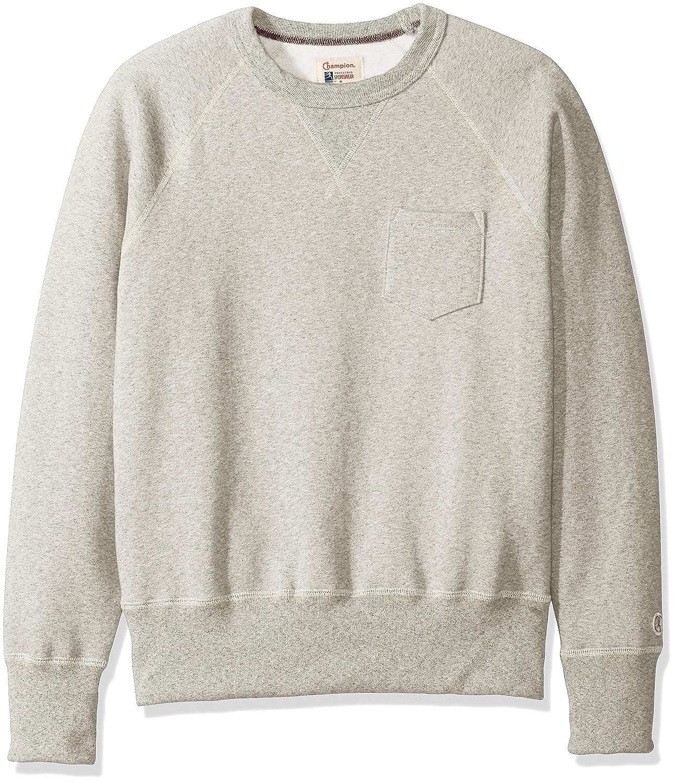 b1d903d1 Todd Snyder + Champion Mens Pocket Sweatshirt Sweatshirt - White -: Amazon. co.uk: Clothing