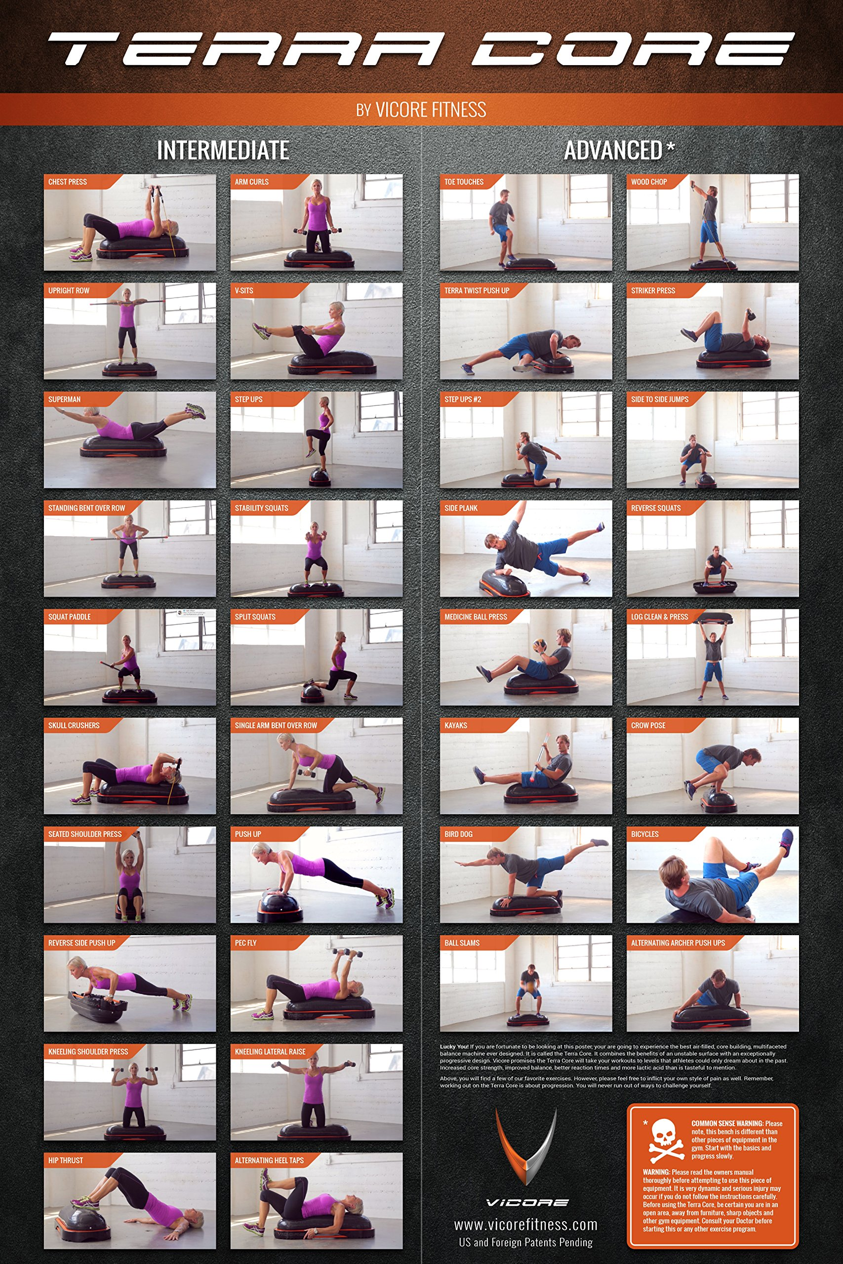 Terra Core Balance Trainer, Stability, Agility, Strength, Functional Fitness, Core Exercises, Abs Workout, Pushups, Weight Bench. by Vicore Fitness (Image #7)