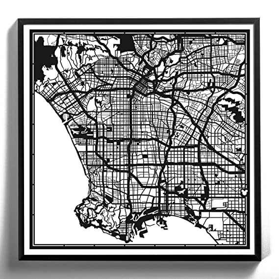 Amazon.com: Paper Cut Mapa Negro 12 x 12 inches Papel Art ...