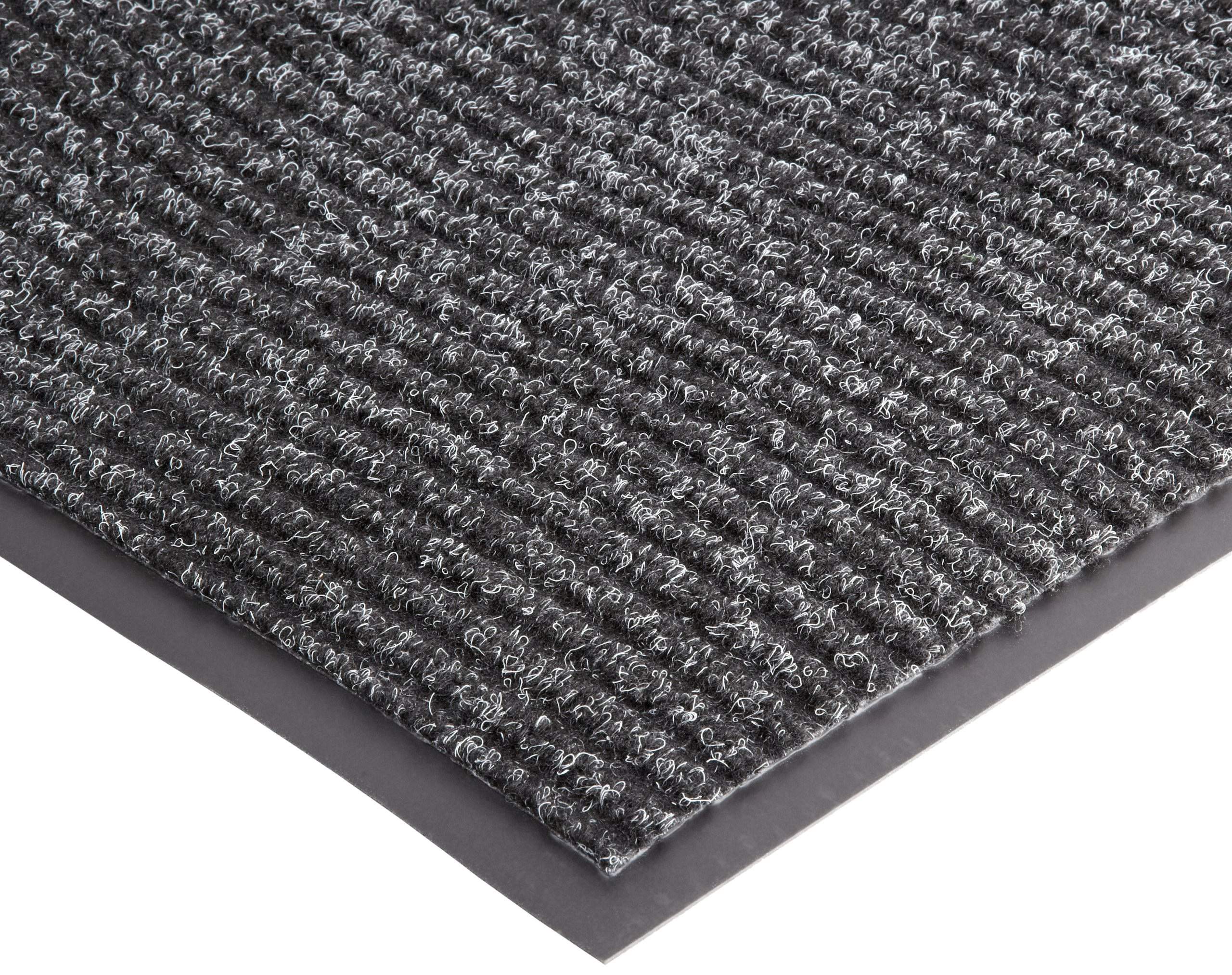NoTrax 109 Brush Step Entrance Mat, for Lobbies and Indoor Entranceways, 3' Width x 10' Length x 3/8'' Thickness, Charcoal - 109S0310CH