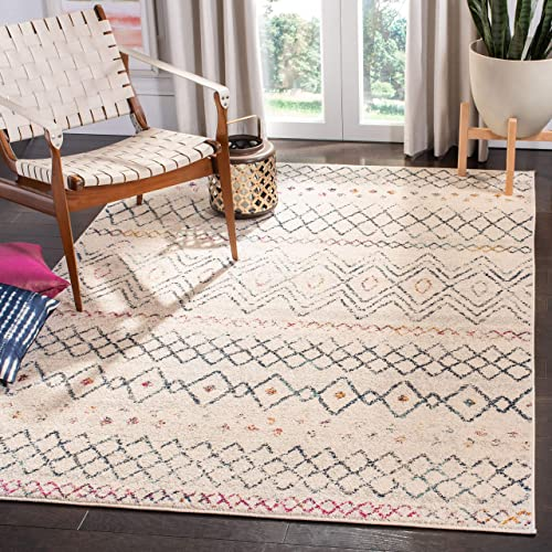 Safavieh Madison Collection MAD798B Moroccan Boho Distressed Area Rug