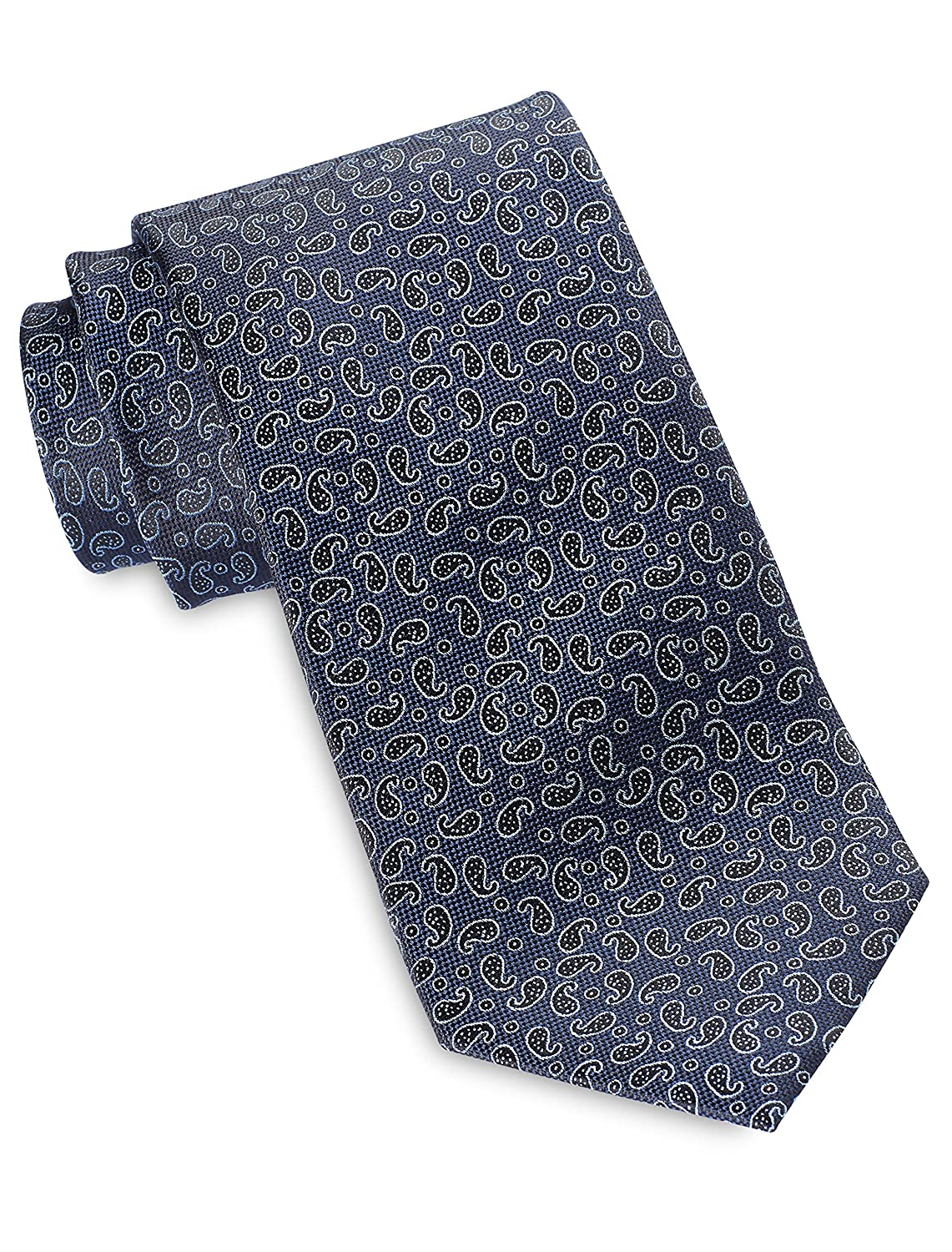 Rochester by DXL Big and Tall Small Paisley Neat Silk Tie
