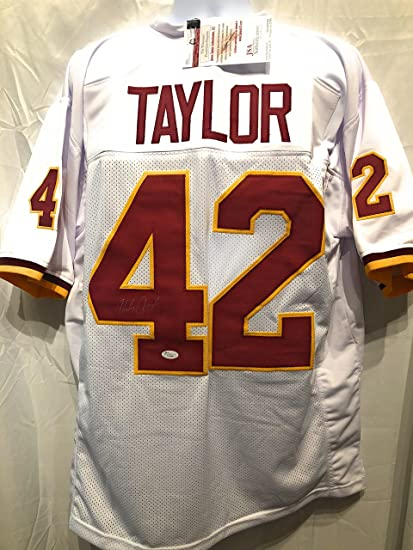 Charley Taylor Washington Redskins Signed Autograph Custom Jersey JSA  Witnessed Certified ba1a0a595