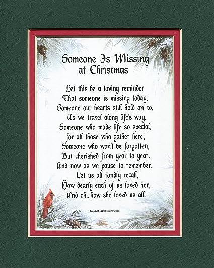 Amazoncom Someone Is Missing At Christmas Female 190 Poem