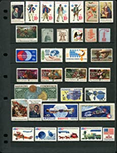 1975 COMPLETE MINT SET OF POSTAGE STAMPS ISSUED IN THE YEAR 1975 BY THE U.S. POST OFFICE DEPT (34 Stamps Total)