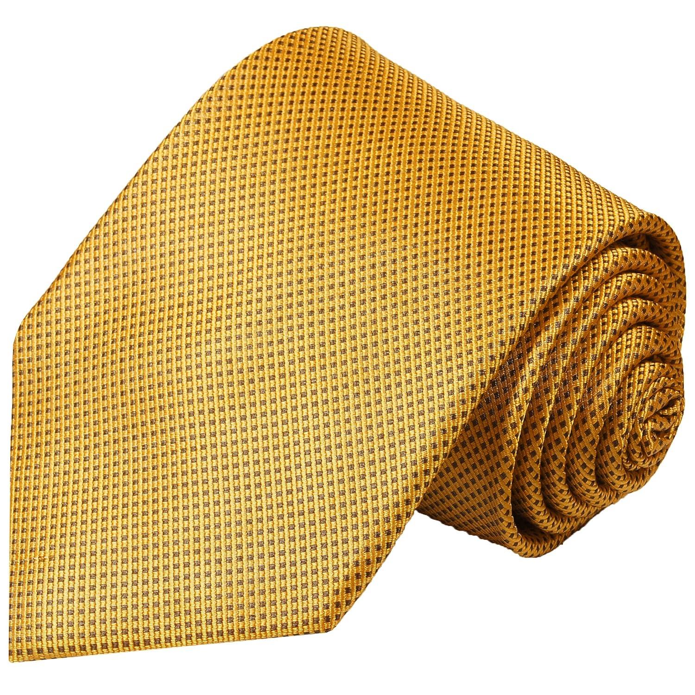 Paul Malone corbata de seda marrón dorado punteado: Amazon.es ...