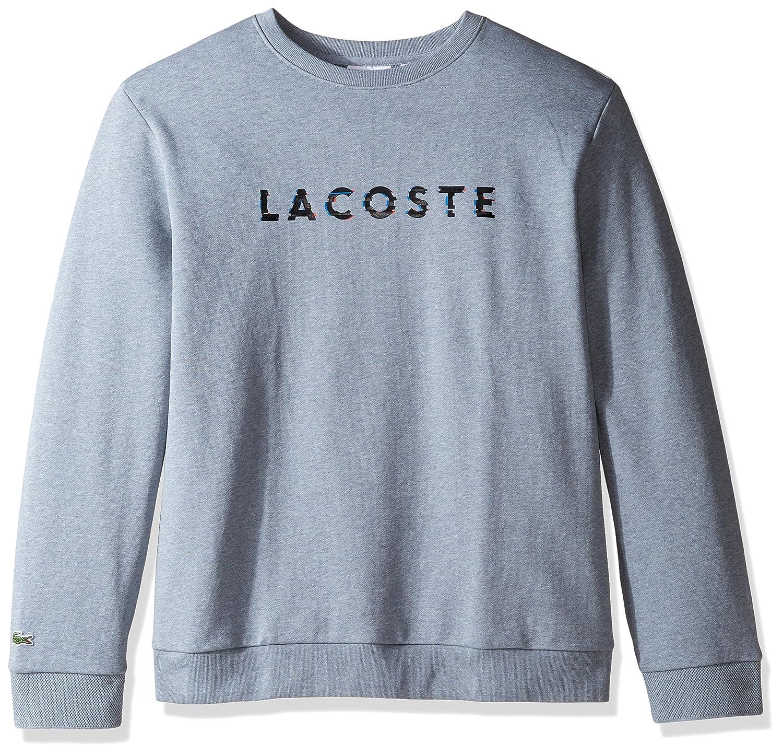 09d34b58f3 Lacoste Men's Crewneck 3D Logo Print Fleece Sweater, SH1971-51 at ...