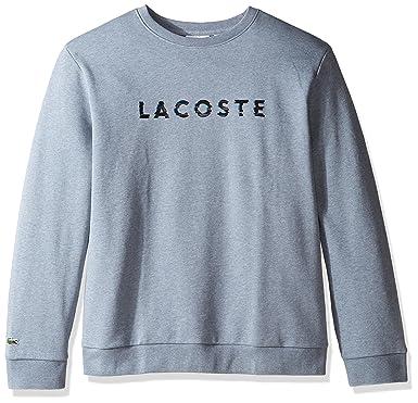 b1d6cafc6ae Lacoste Men s Crewneck 3D Logo Print Fleece Sweater