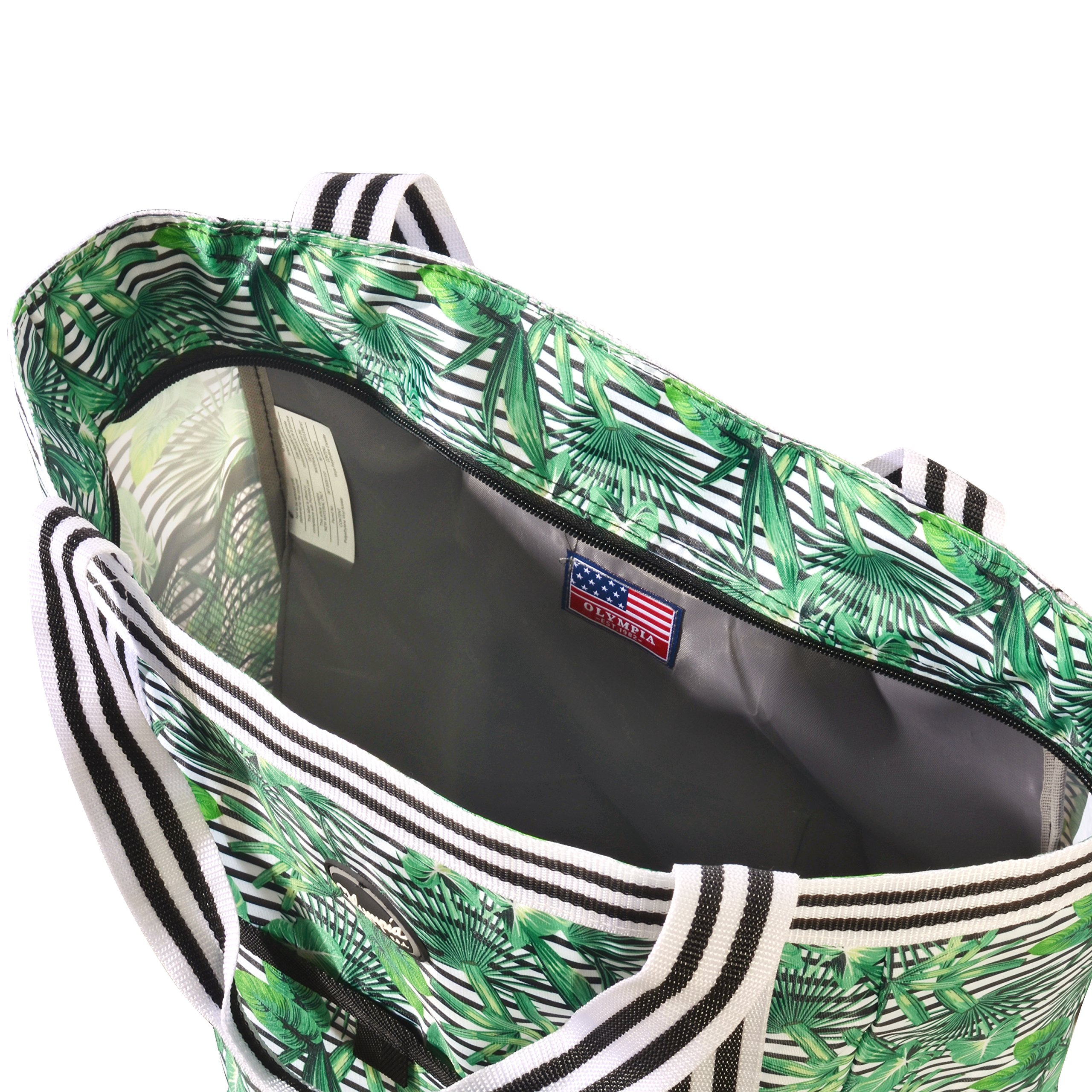 Olympia 2-Piece Rolling Shopper Tote and Cooler Bag, Rain Forest by Olympia (Image #6)