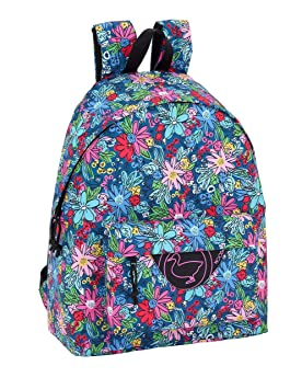"Day Pack Infantil Moos ""Flowers"" Oficial 330x150x420mm"
