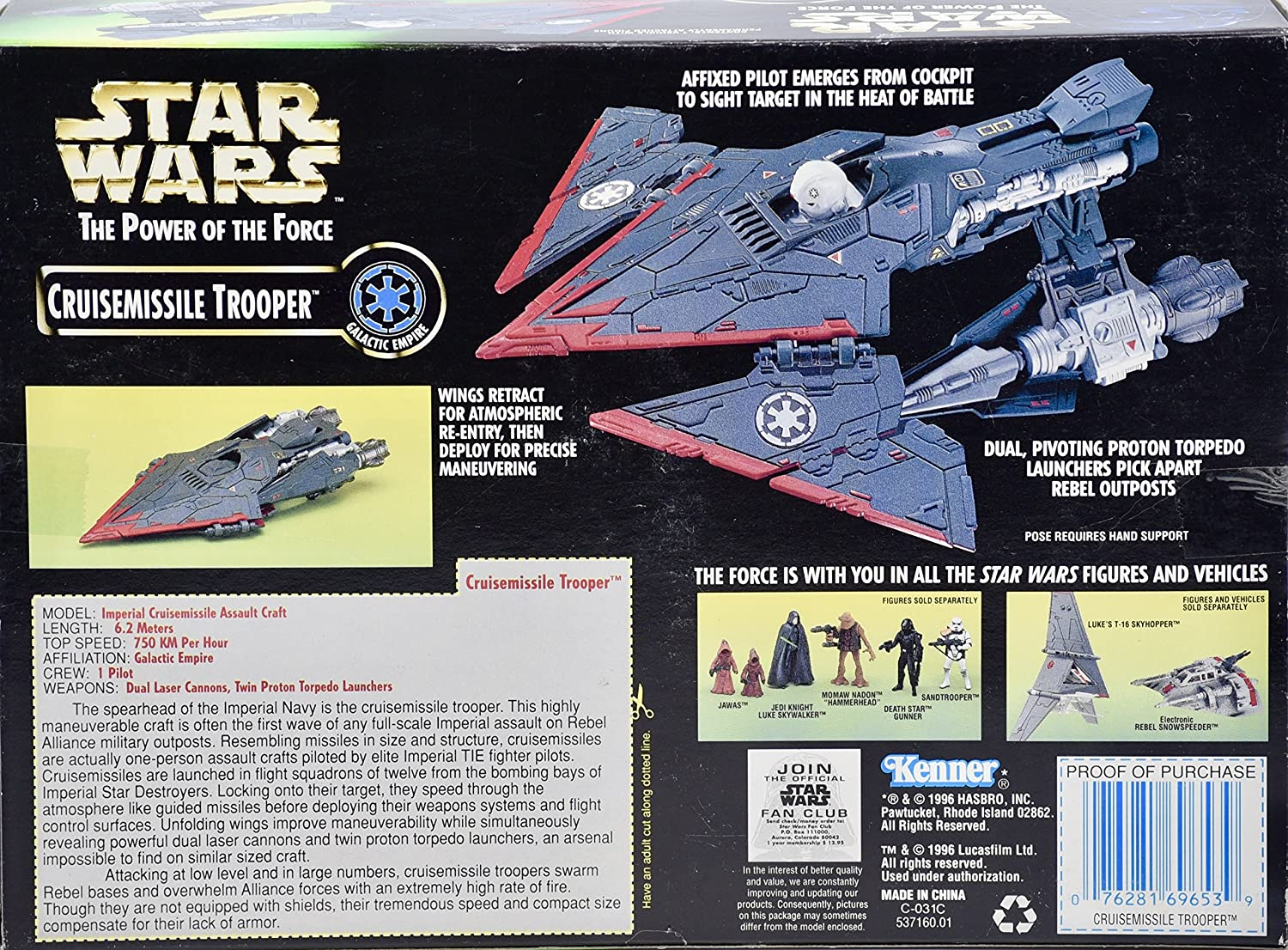 Star Wars Power of the Force Cruisemissile Trooper By Kenner