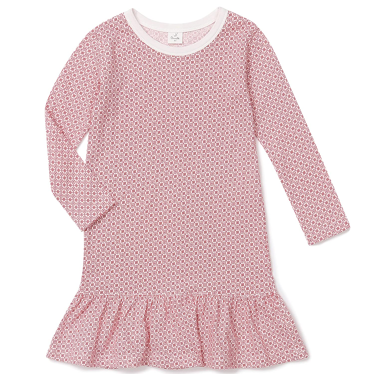 orcite Girls Kids Toddler Nightgown Cotton Cute Pajamas Princess Night Gown Size 2t 12 Years Long Sleeve