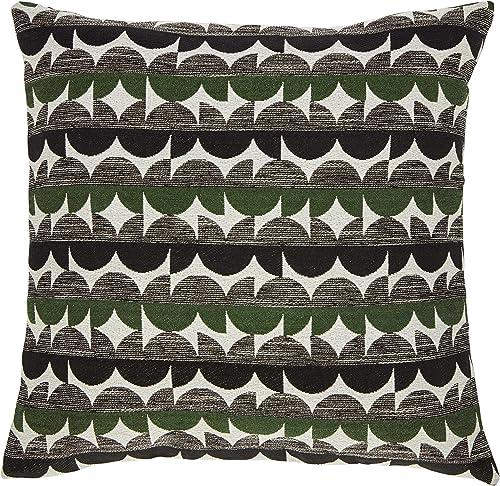 Amazon Brand Rivet Mid-Century Graphic Throw Pillow – 17 x 17 Inch, Black Green