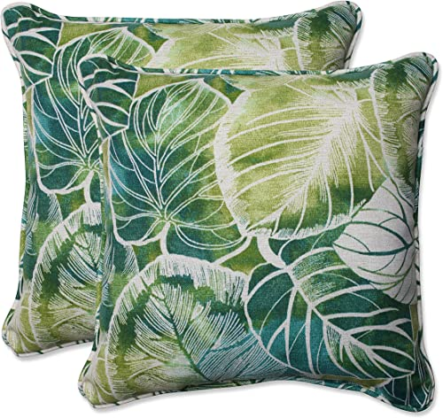 Pillow Perfect Outdoor Indoor Key Cove Lagoon Throw Pillows, 18.5 , Green, 2 Pack