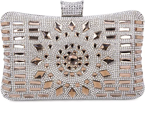 Tanpell Womens Crystal Clutche Bag Fashion Diamond Evening Party Bag