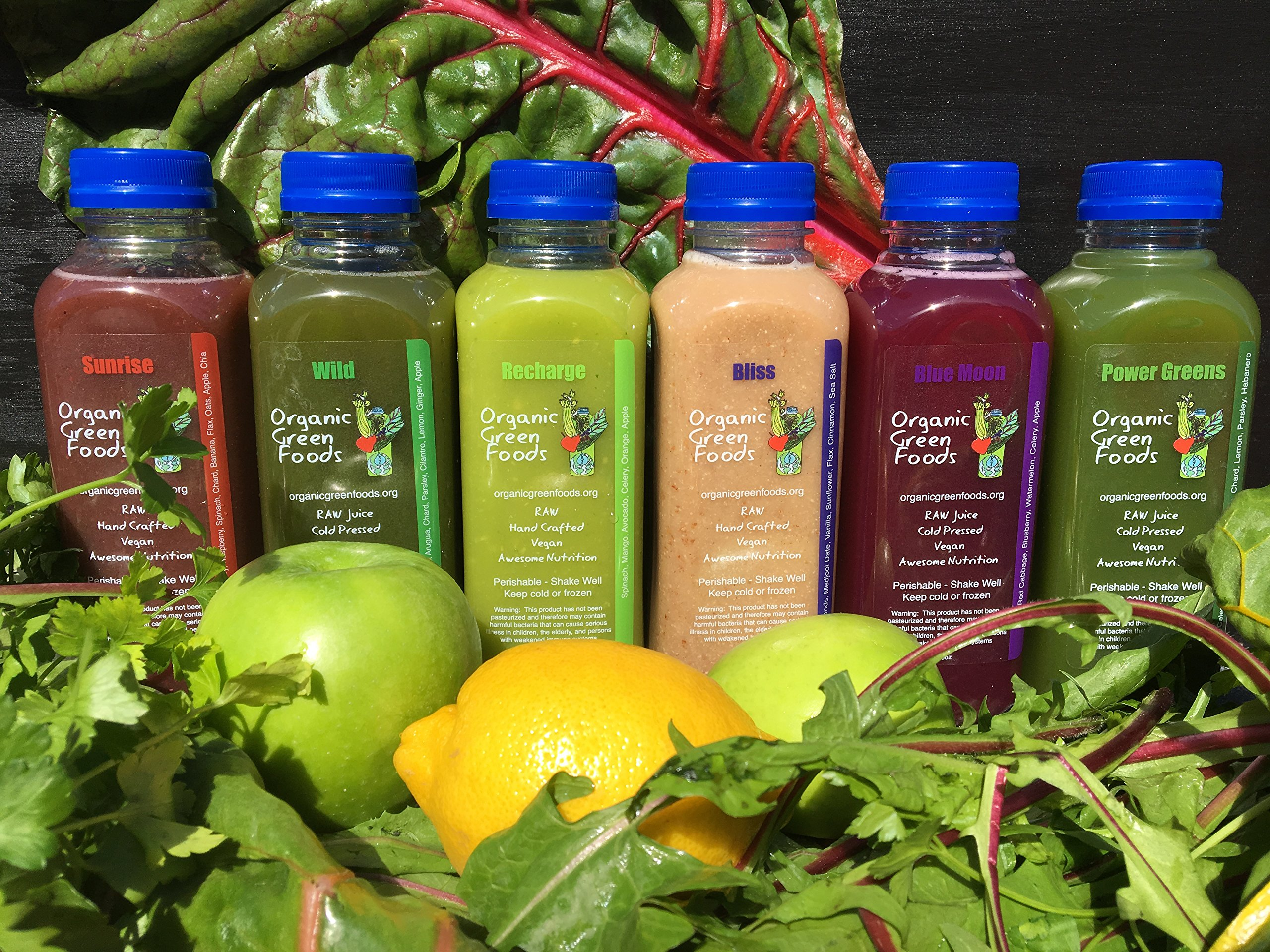 Organic Green Foods 3 Day Raw Signature Juice Cleanse - 18 Bottles by Organic Green Foods (Image #2)
