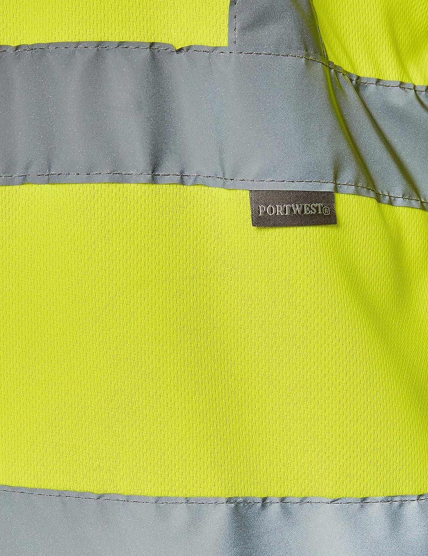 Portwest S178/Herren Arbeit T-Shirt Hi-Vis lang/ärmelige Polyester Reflektierende Streifen