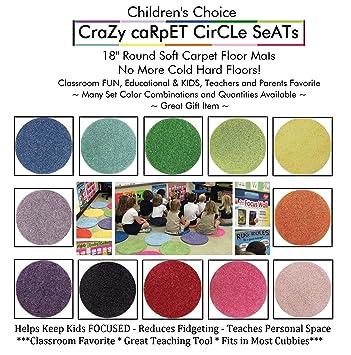 Amazon.com: Pastel Multi Set 6 de los niños Crazy Alfombra ...