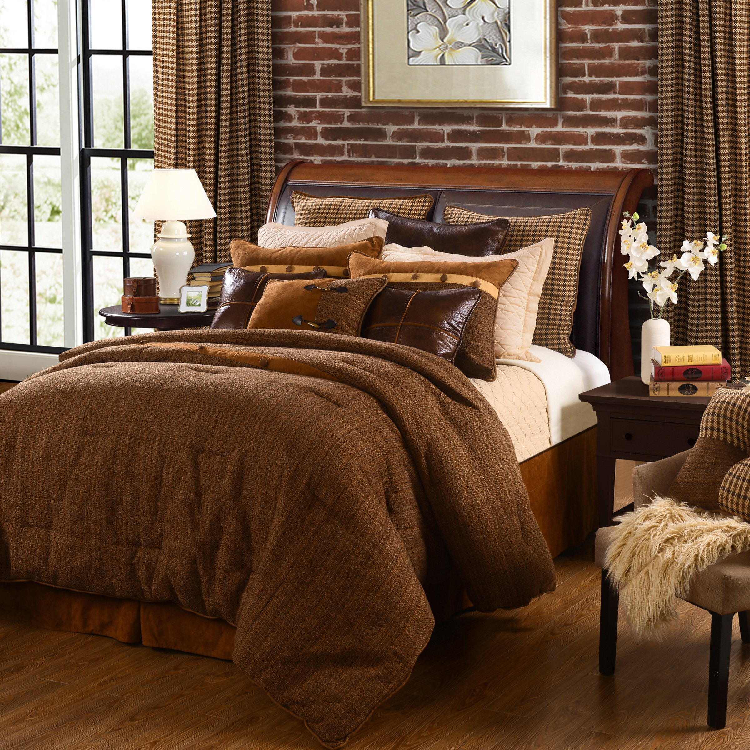 HiEnd Accents Crestwood Lodge Bedding Collection, King