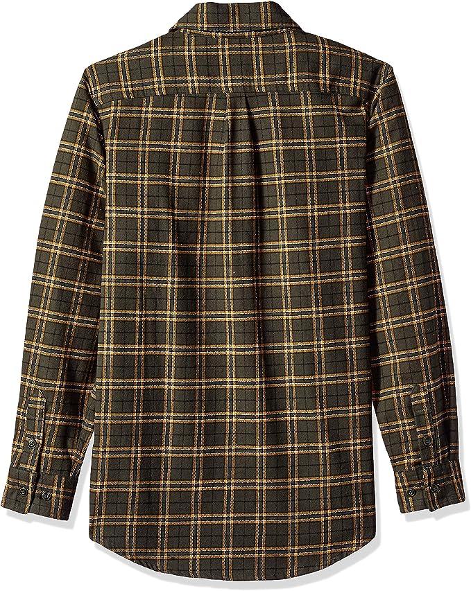 Walls Men S Brahma Long Sleeve Heavyweight Brushed Flannel Shirt Clothing Amazon Com