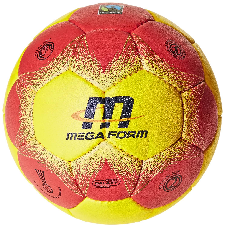 Megaform Fairtrade - Balón de Balonmano - Amarillo/Rojo, Color ...