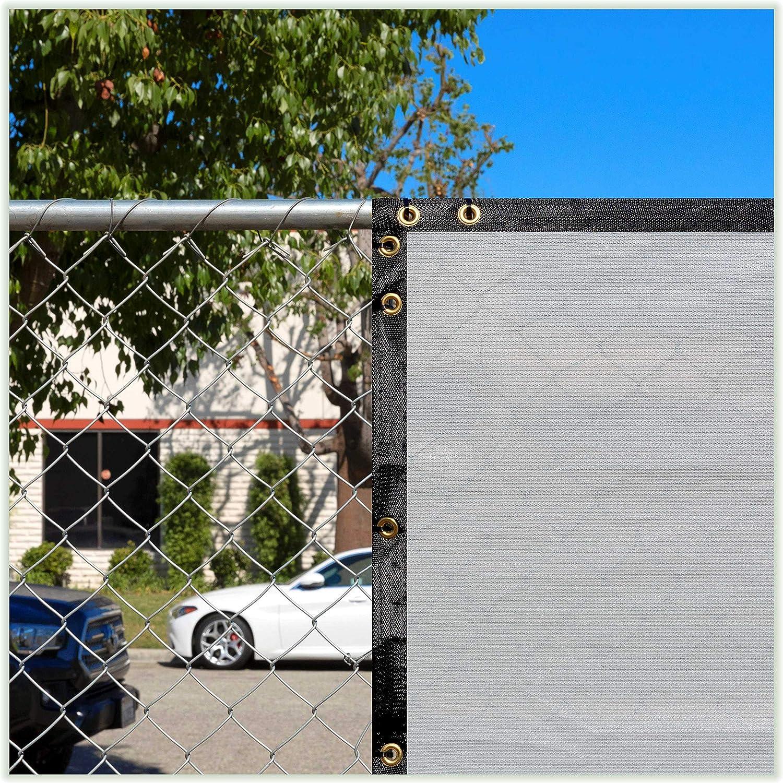 Amazon Com Colourtree 4 X 50 Grey Fence Privacy Screen Windscreen Cover Fabric Shade Tarp Netting Mesh Cloth Commercial Grade 170 Gsm Heavy Duty 3 Years Warranty Custom Garden Outdoor