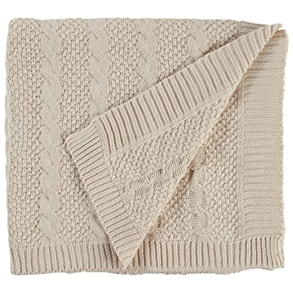 Amazon Stone Beam Transitional Chunky Cable Knit Throw 70 X