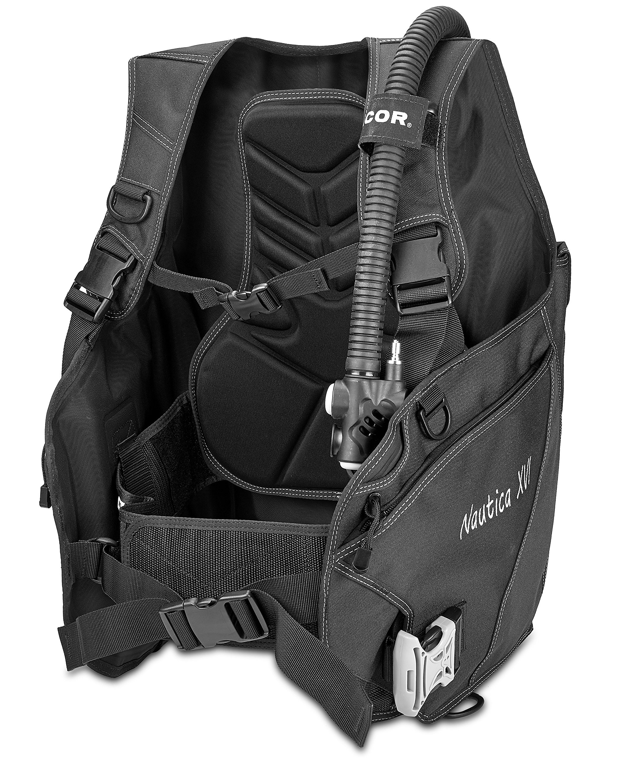 Dacor Nautica XVI Weight Integrated BCD Buoyancy Compensator, Black, Small