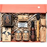 Branded & Grilled BBQ Grill Master's Gift Box A Chef Driven Collection of Gourmet Sauces and Dry Rub Seasonings For Grilling & Essential Tools For Branding A Personalized Steak or Any Cut of Meat