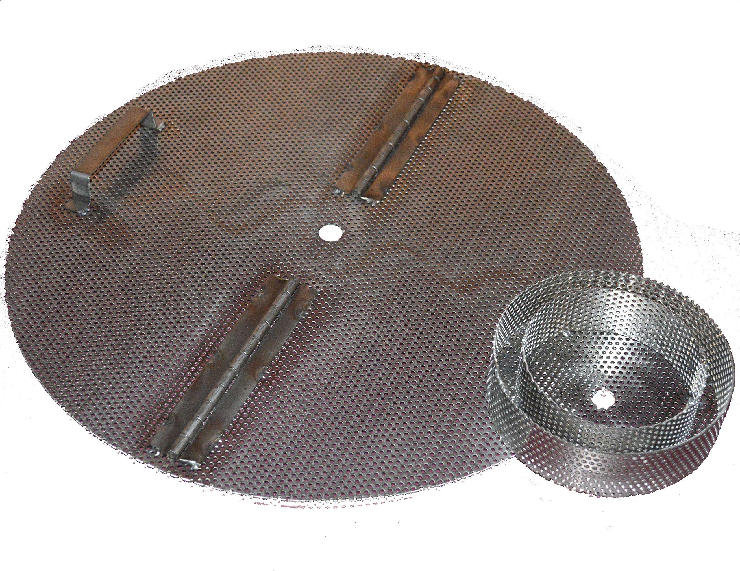 15'' Jaybird False Bottom for Keg / Keggle. Reverse Hinge, Handle, Hole, + Level 3 Filter Stand