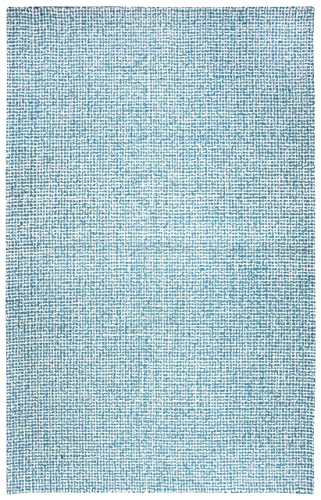 Rizzy Home Brindleton Collection Wool Area Rug, 3 x 5 , Teal Gray Rust Blue Tweed