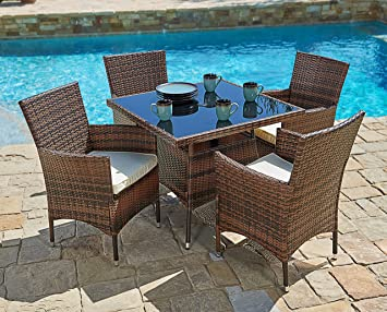 Amazoncom Suncrown Outdoor Furniture AllWeather Square Wicker