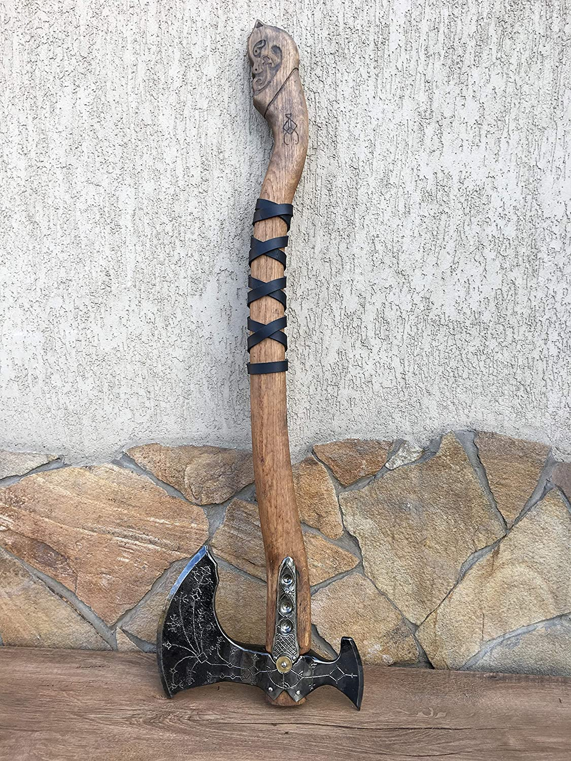 prop cosplay axe viking axe replica God of War costume weapon Leviathan axe cosplay weapon Kratos axe cosplay armor Kratos weapon