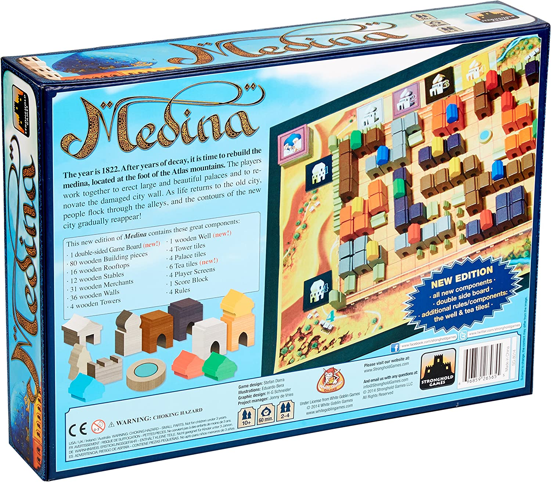 amazon com medina board game toys games medina board game
