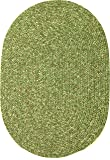 Sabrina Tweed Indoor/Outdoor Oval Braided Rug, 7 by 9-Feet, Bay Leaf